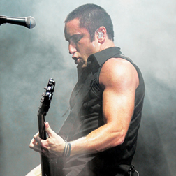 Trent Reznor in concert with Nine Inch Nails.